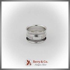 Vintage Milled Body Napkin Ring International Sterling Silver 1940