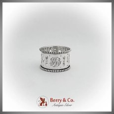 Cutwork Beaded Napkin Ring Webster Co Sterling Silver 1920