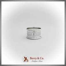 Canadian Engine Turned Napkin Ring Roden Bros Sterling Silver