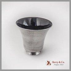 Vintage Shot Cup Purple Enamel Lined Sterling Silver 1960