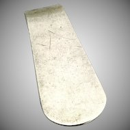 Vintage Plain Elongated Money Clip Sterling Silver