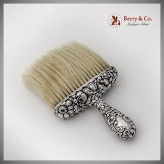 Floral Repousse Clothes Hat Brush Wallace Sterling Silver 1900