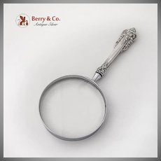 Grande Baroque Magnifying Glass Double Lens Wallace Sterling Silver 1941