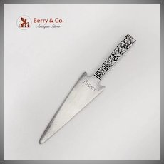 Repousse Letter Opener Square Handle Spear Point Blade S Kirk And Son Sterling