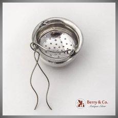 Vintage Tea Strainer Basket Spout Insert Sterling Silver 1900