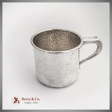 Hammered Baby Childs Cup International Silver Co Sterling Silver 1920s