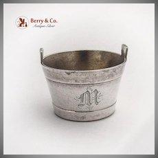 Barrel Form Open Salt W K Vanderslice Co Coin Silver 1880s