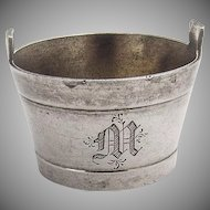 Barrel Form Open Salt W K Vanderslice Co Coin Silver 1880s