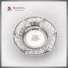 Openwork Serving Bowl Laurel Leaf Berry Rim Gorham Sterling Silver 1900