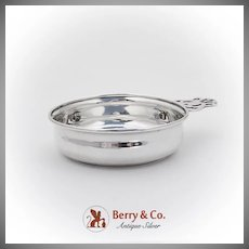 Vintage Porringer Baby Feeding Bowl Openwork Handle Webster Co Sterling Silver