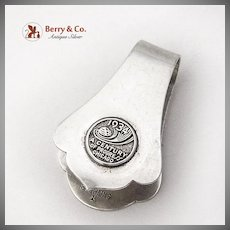 Art Deco Napkin Clip Century Of Progress 1934 Chicago Randahl Sterling Silver