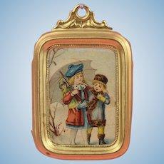 Erhard & Söhne:  All Original Miniature Picture with Ormolu Frame