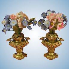 Erhard & Söhne: Wonderful Pair of Dolls' House Vases