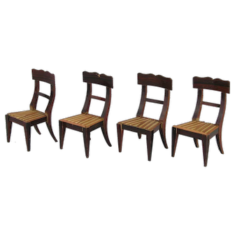 Early German Classicism:  Set of 4 Chairs