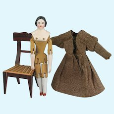 Early Wooden Jointed Kister Dolls House Doll
