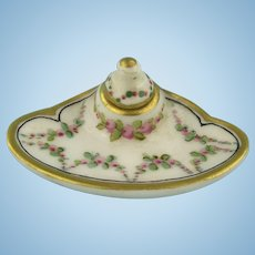 Limoges -  Antique Handpainted Miniature Writing Set for Your Doll's House