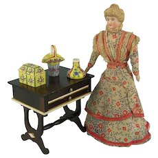 Desvres Gabriel Fourmaintraux - Three Handpainted Miniatures for Your Doll's House