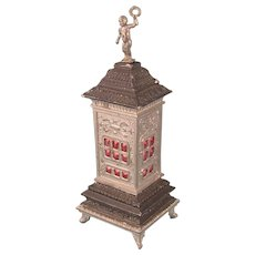 Antique Dolls' House Stove Crowned by the Original Putto