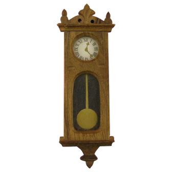 Harrass - Walnut Wall Clock in Neo-Gothic Style
