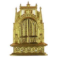 Antique Ormolu Miniature Family Altar