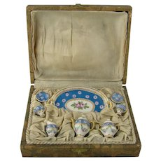 Rarity - Miniature Limoges Coffee Set in Original Box for your Doll's House