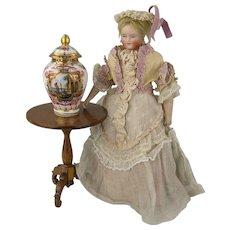 Dresden - Spectacular Handpainted Miniature Lidded Vase # 1