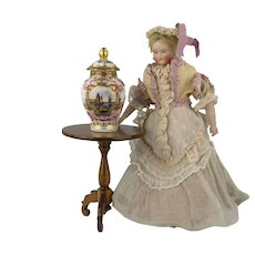 Dresden - Spectacular Handpainted Miniature Lidded Vase - # 2