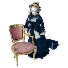 Fabulous 19th Century Miniature Rococo Fauteuil