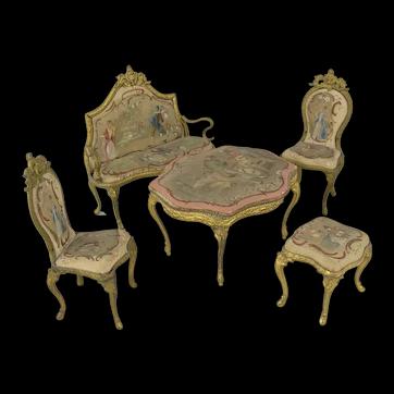 Outstanding Miniature Ormolu Parlour Set - Austrian