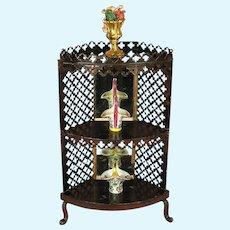 Rock & Graner - Elegant Corner Cabinet With Mirror Back