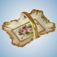 Biedermeier - Antique Miniature Handpainted Bowl for Doll's Houses or Fashion Dolls