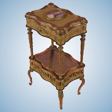 Elaborate 19th Century French Miniature Side Table - Louis Seize