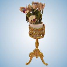 Antique Miniature Dolls' House Flower Stand ca. 1910