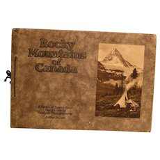 Rocky Mountains of Canada: A Series of Twenty-Four Hand Colored Vandyck Photogravures--Edition Deluxe