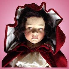 Originally $2,250 John R. Wright Little Red Riding Hood Doll in Original Box Limited Ed.