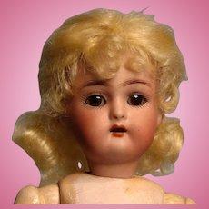 """9"""" K*R Simon Halbig German Doll---so cute in pink!"""