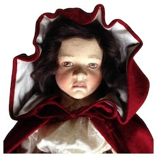 Never displayed out of the box!  R. John Wright Little Red Riding Hood Cloth Doll. - Red Tag Sale Item