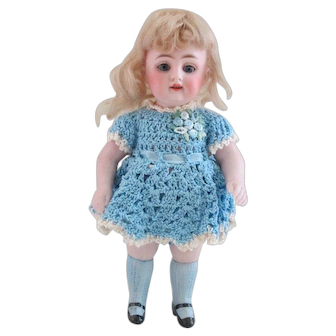 """7-1/2"""" Kestner 150 All-Bisque Doll---Beautiful condition & lovely expression!"""