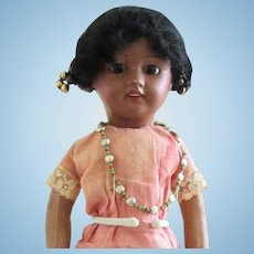 """13.5"""" Unis France 60 Brown Ethnic doll--Original wig & factory chemise"""