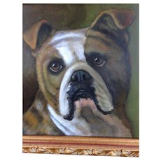 Boxer Oil Painting