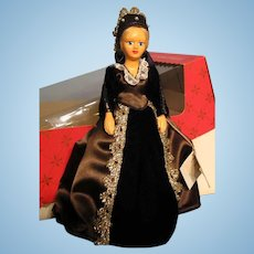 Peggy Nisbet doll---Queen Catherine Howard with original box---King Henry VIII's 5th wife