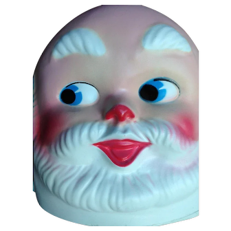 Santa Mask Face.  Mold Blown. Father Christmas. Belsnickel