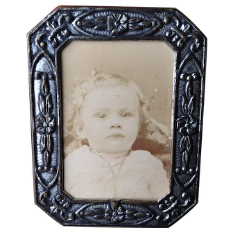 Antique Silvertone Dollhouhse picture and frame.