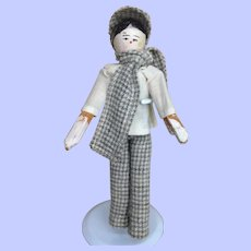 "6 1/2"" Grodnertal Doll House Boy"