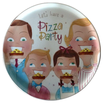1959 Pizza Platter. No Damage. Wonderful!