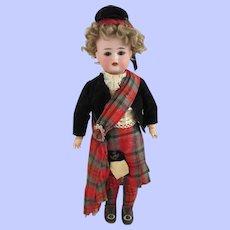 "13"" Simon Halbig K*R All Original Scottish Doll"