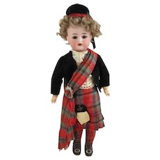 "13"" Simon Halbig K*R All Original Scottish Doll"