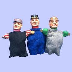 Three Wood Puppets Erzgebirge Germany Characters