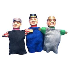 Three Wood Puppets Erzgebirge Germany Characters
