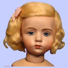 """Sweet Pale Blonde Mohair Wig for 10"""" circumference head--Free shipping!"""